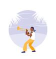 man playing trumpet avatar character vector image