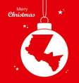 merry christmas theme with map of el paso texas vector image vector image
