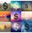 money icon on blurred background vector image