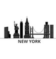 new york architecture city skyline travel vector image