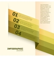 Paper options template vector image vector image