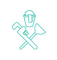 plumber service emblem plumber and logo cleaning vector image vector image