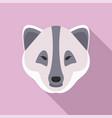 polar fox icon flat style vector image