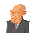 President Vladimir Putin vector image