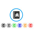 realty catalog rounded icon vector image
