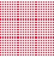 Red and white gingham clothtable for a picnic or vector image vector image