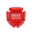 Red best seller sticker vector image