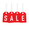 red sale tags vector image vector image