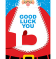 Santa Claus good luck Bearded Christmas character vector image vector image