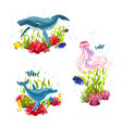 sea life compositions vector image