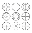 Set of black crosshairs icons Isolated on white vector image vector image