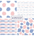 set seamless pattern stripes polka dots vector image