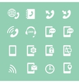 Simple set of phones related white icons vector image