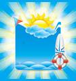 summer beach concept vector image vector image