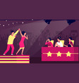 talent show tv stage artist music contest vector image vector image