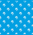 three palm trees pattern seamless blue vector image vector image