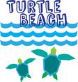 Turtle Beach vector image vector image
