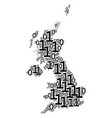 united kingdom map mosaic of binary digits vector image