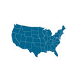 usa map icon usa map icon united states of vector image