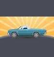 vintage retro pickup car vector image