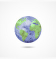 watercolor earth globe on white vector image vector image