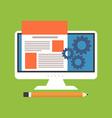 Website design development concept Flat design vector image