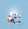 working from home concept people working online vector image