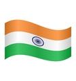 Flag of India waving on white background vector image