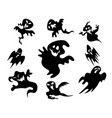 black halloween ghost around background vector image