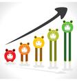 saving money graph shown by piggy stock vector image