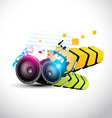 stylish speaker eps10 speaker design vector image