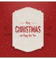 Christmas realistic big Poster Template vector image