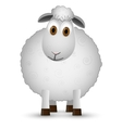 Sheep isolated on white background vector image