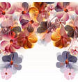 abstract floral background with flowers and space vector image vector image