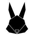 abstract low poly rabbit icon vector image