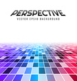 Abstract perspective tiles vector image