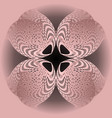 abstract pink flower shape in optical art style vector image vector image