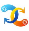 air conditioning arrow symbol vector image vector image