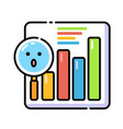 analytic lineal color icon vector image vector image