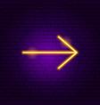 arrow neon sign 7 vector image vector image