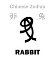 astrology rabbit sign chinese zodiac vector image vector image