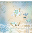 baby shower card vector image vector image