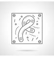 Bacilli icon flat line design icon vector image