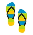 Beach slippers icon vector image vector image