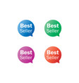 best seller label tag bubble set vector image vector image