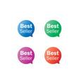 best seller label tag bubble set vector image vector image