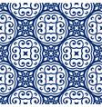 blue arabesque pattern vector image