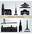 Bratislava landmarks and monuments vector image vector image