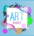 bright stylized banner vector image vector image