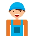 builder character isolated icon vector image